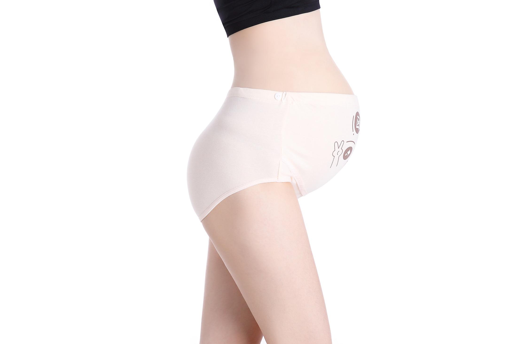 Беременность материнство одежда шорты мультфильм женщин хлопок беременных Высокая талия трусы нижнее белье для беременных