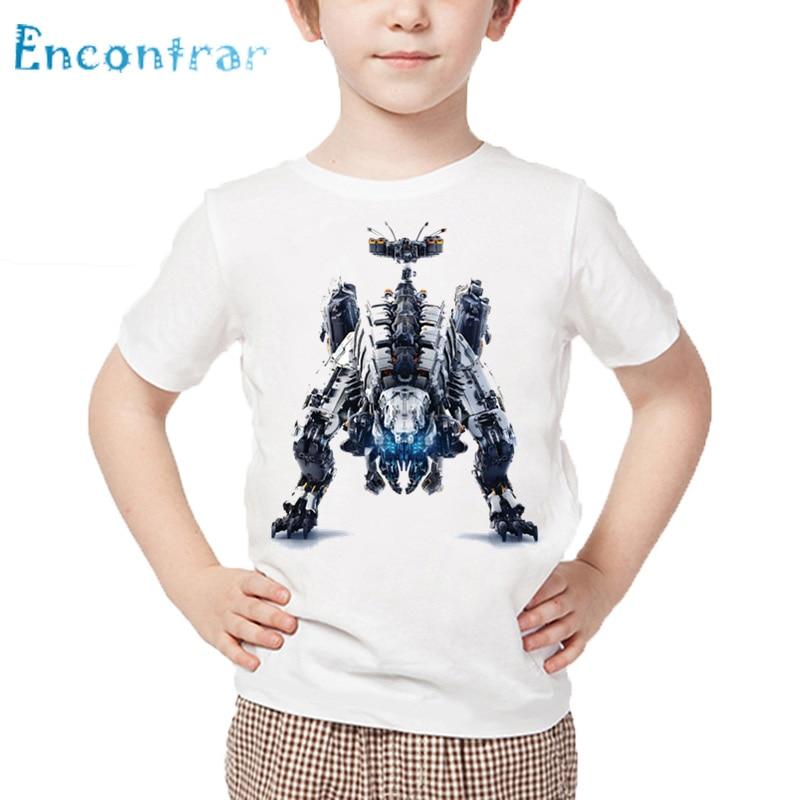 Kids Game Horizon Zero Dawn Print T shirt Children Summer Short Sleeve White Tops Boys and Girls Casual T-shirt,HKP385