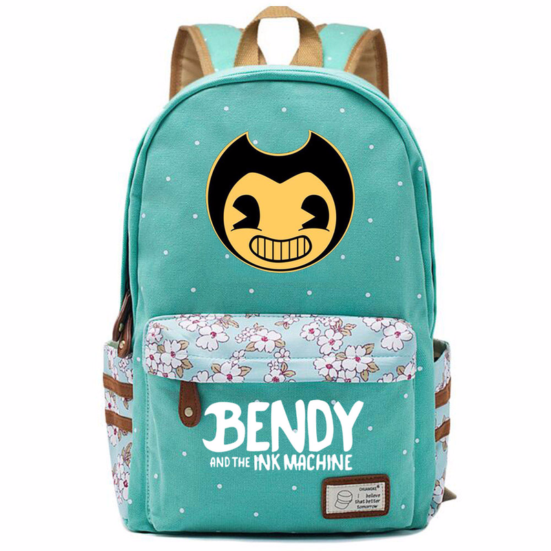 Games hot and the Ink Machine Flowers Polka Dot Boy Girl School bag Women Bagpack Teenagers Schoolbags Canvas Ladies Backpack 9 image