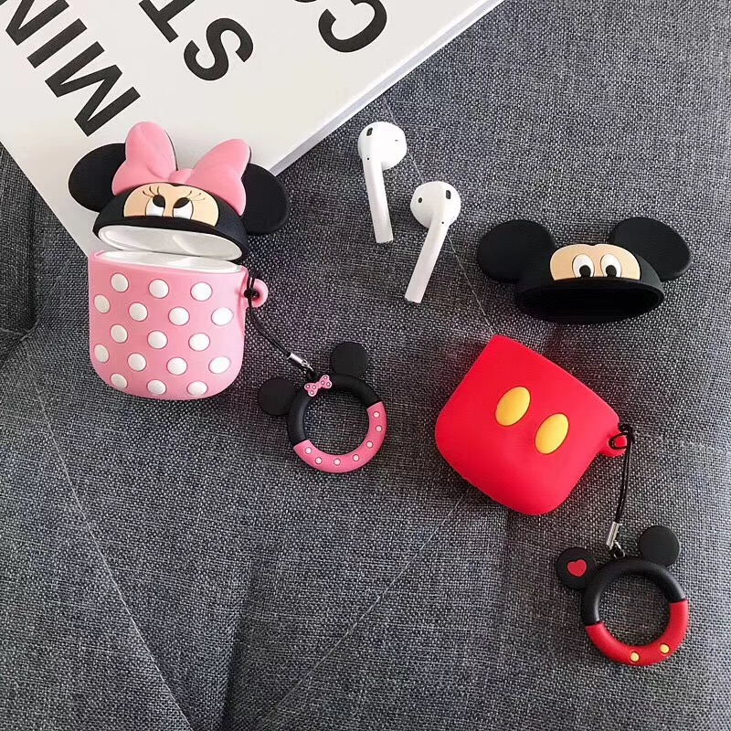 Image 4 - Bluetooth Earphone Case for Airpods Protective Cover Bag Anti lost Strap Cute Cartoon Silicone Charging box case Accessories-in Earphone Accessories from Consumer Electronics