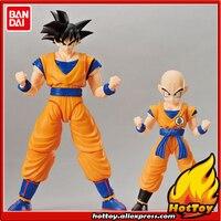 Original BANDAI Naciones Tamashii Figura altura de Montaje Estándar DX Figura de Goku y Krilin Set Modelo De Plástico
