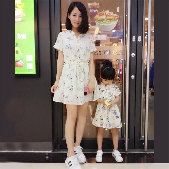 Hija de la madre vestidos clothing a juego de ropa de la familia de madre e hija familia look vestido roupa mae e filha rapa mama 20 #