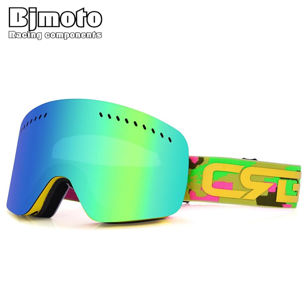 BJMOTO Открытый Солнцезащитные очки горнолыжные очки Для мужчин Для женщин двойной УФ Анти-туман Лыжный Спорт сноуборд, MTB ATV мотокросс очки