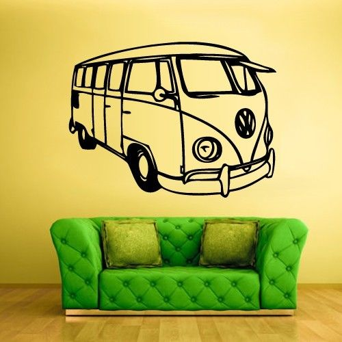 Car Vinyl Wall Decal Car Auto Automobile Surf Bus Traffic Mural Art ...
