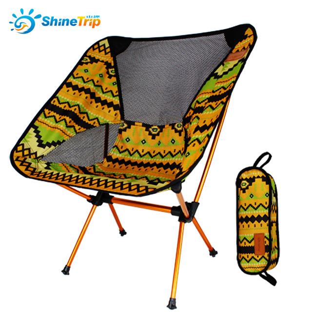 ShineTrip Super Light Breathable Backrest Folding Chair Portable Beach  Picnic Barbecue Camping Fishing Folding Chairs