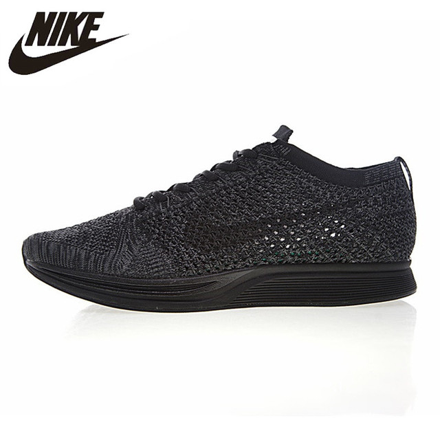 eca63d70f2f19 Nike Flyknit Racer Triple Men s Running Shoes