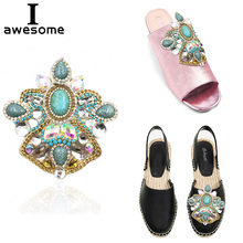 Shoes Accessories For high Heels Sandals Boots Bohemian style Rhinestone Flowers Bridal Wedding Party Decorations flower