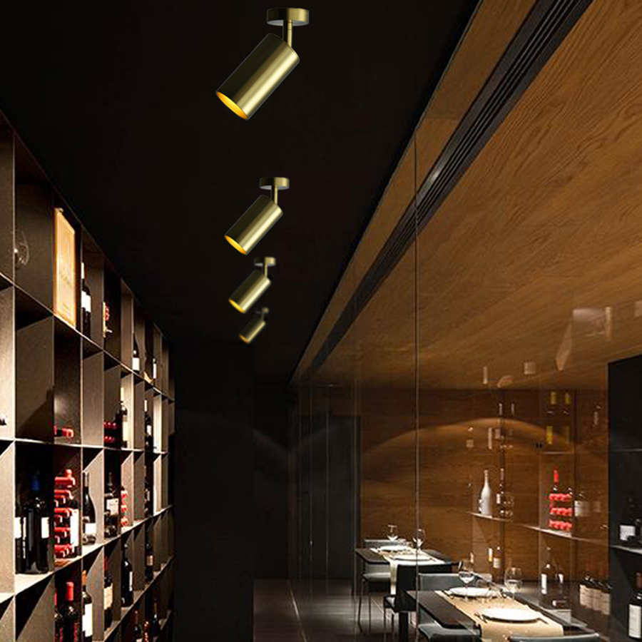 Café Bar Loja de Roupas Bronze Holofotes