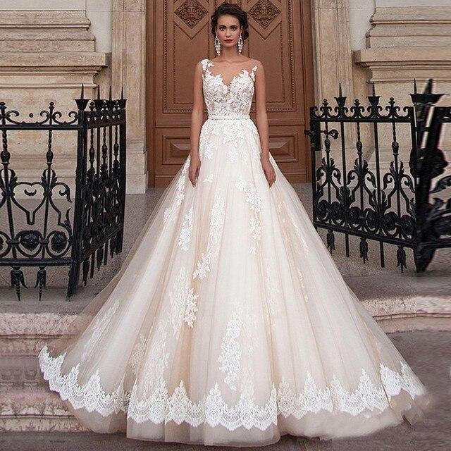 Wedding Dress Princess Arabic Lace Turkey Vintage Country Western