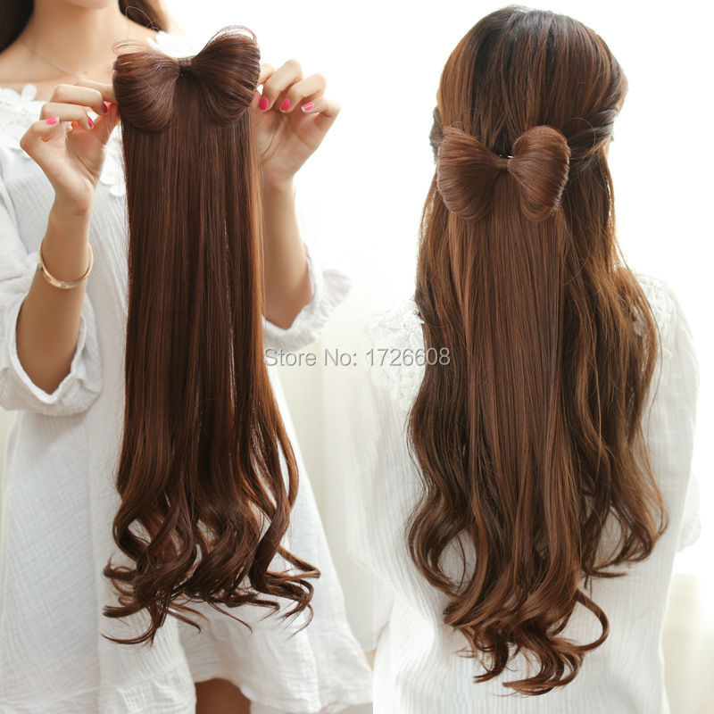 women synthetic bow hair extension