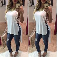 2018 Summer Sexy Womens Blouses Fashion White Black sleeveless Body Shirt Women Shirts Tops Formal Plus