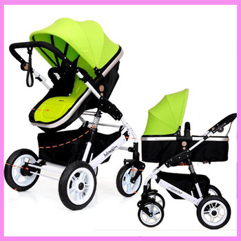 Foldable High Landscape Baby Stroller Reverse Handle Armrest Bottom Basket Newborn Baby Pushchairs Luxury Infant Baby Prams