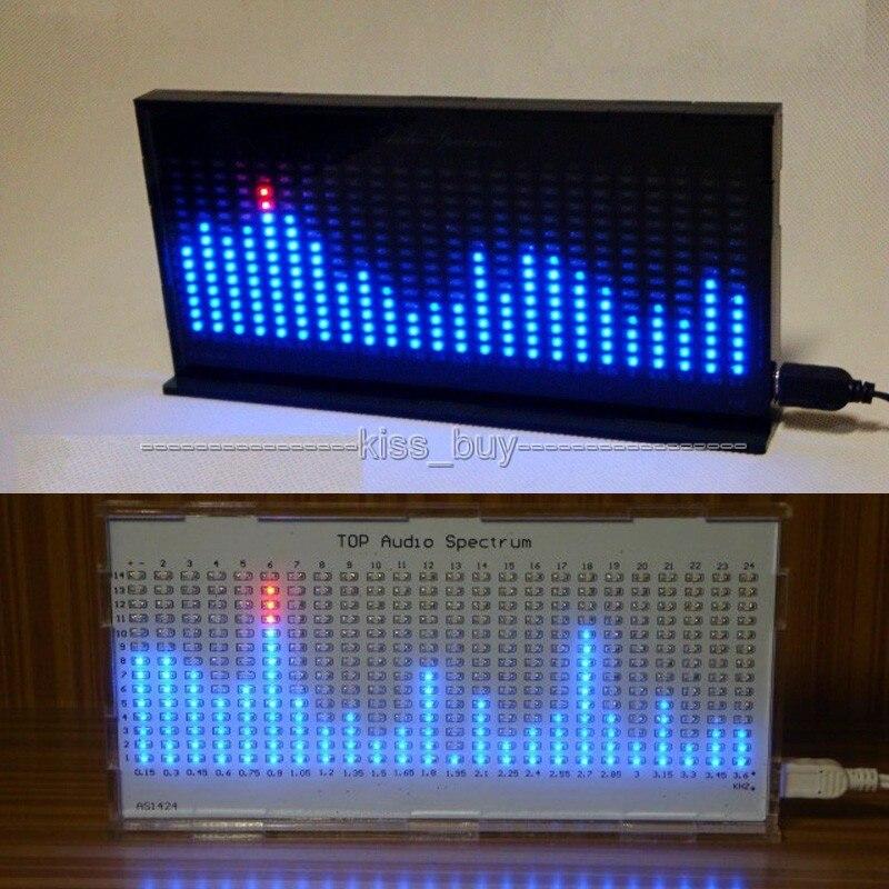 DIY Audio Level Meter Blue LED Display Music Spectrum Analyzer Kit