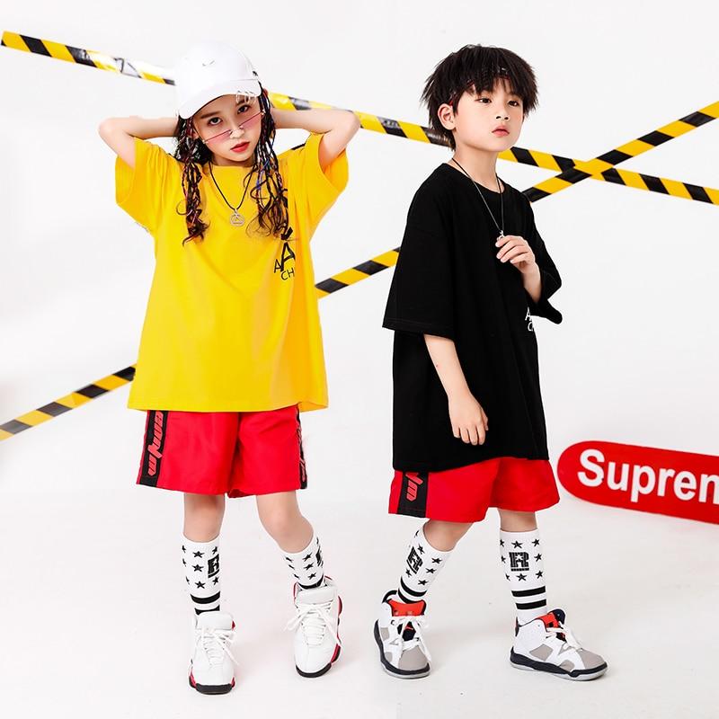 Boy Girl summer 2019 clothes Set 4 6 8 10 12 14 16T hip hop dance costumes kids Jazz set on the boy outfits kids clothes boys (11)