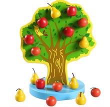 Новая деревянная игрушка магнитное моделирование фруктовое дерево
