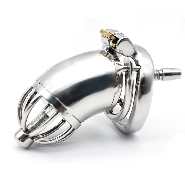 Male-Stainless-Steel-Cock-Cage-Penis-Ring-Chastity-Device-with-Stealth-New-Lock-Adult-Sex-Toy