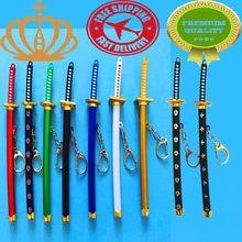 57da2b69a165 1Pcs15cm Exquisite Mini Weapons Model Sheathed Knife Clasp Japanese Samurai  Sword Keychain Keychain Anime Props Pendant