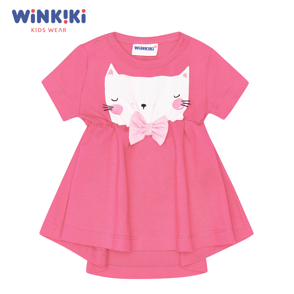 Dresses Winkiki WN91303 baby clothing Cotton Pink Casual Animal women handbags 2018 new fashion summer chain ladies hand bags cartoon girl printed female crossbody pink casual tote k059