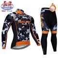 Комплекты зимней одежды для велоспорта  теплая флисовая велосипедная куртка  Джерси  сохраняющая тепло  для детей  Maillot Ciclismo  2019