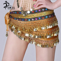 Hip Scarf Bellydance Belly Dance Hip Scarf With Coins Beads Indian Belt Belly Dancing