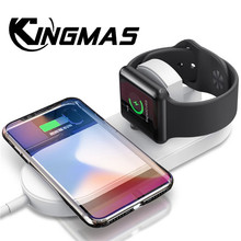 KINGMAS Wireless Charger fast charging for Apple Watch 3 2 for iphone X 8 plus 2 in 1 Fast Wireless usb Pad Phone adapter
