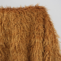 High Quality Turnip Strip Fur Faux Wool Plush Blanket Fabric Artificial Leather Cloth Vest Luxury Curly