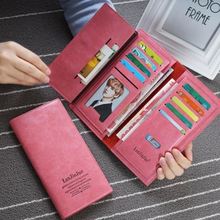 2016 new hot sales Womens fashion Purses Young lady big capacity Long Wallets females PU Leather clutch bags Cards Holder wallet