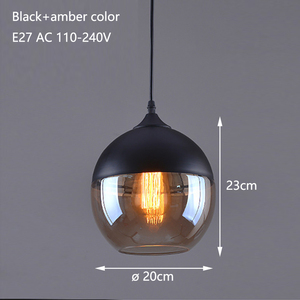 Image 3 - Nordic Modern loft hanging Glass Pendant Lamp Fixtures E27 E26 LED Pendant lights for Kitchen Restaurant Bar living room bedroom