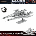 JWLELE@MASS effect SX3 ALLIANCE FIGHTER 3D metal puzzle model 1 Sheets Wholesale price Stainless steel DIY Creative gifts