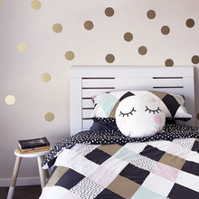 Gold Polka Dots Kids Room Baby Room Wall Stickers Children Home Decor Nursery Wall Decals Wall Stickers For Kids Room Wallpaper cheap Plane Wall Sticker Modern For Refrigerator For Tile For Wall Furniture Stickers Window Stickers Single-piece Package PY011