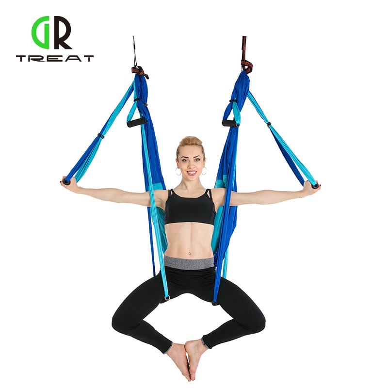 2.5*1.5m Fitness Yoga Hammock Yoga Swing Anti-gravity Aerial Straps High Strength Fabric Decompression Hammock fitness yoga hammock yoga swing anti gravity aerial straps high strength fabric decompression hammock mix color with 6 grip hand