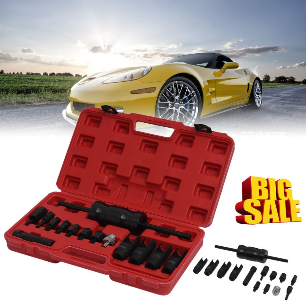 UK New 14pcs Injector Puller Extractor Kit Engine Service Tool Fuel Injector Puller Diesel Common Rail for Bosch/Delphi/Siemens