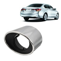 Stainless Steel Chrome Car Exhaust Tail Muffler Tip Oval Pipe For Honda For Accord 2008 2009