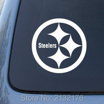 Pittsburgh steelers football superbowl car stickers 5 5 vinyl diy decal for laptop ipad