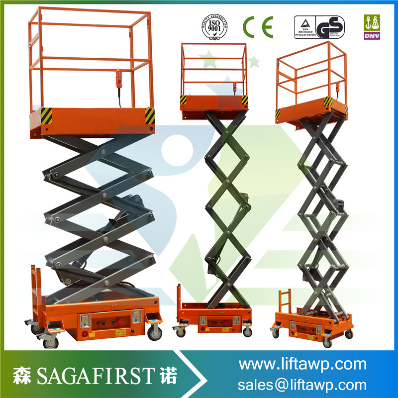 2019 Chinese Mobile Compact Self Propelled Scissor Lifter