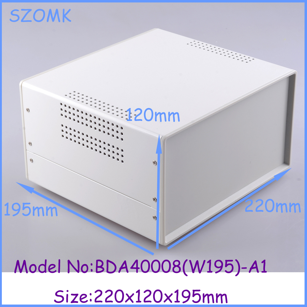 (1pcs)220x120x195mm new electronics metal enclosure industrial case diy iron box pcb instrument box industrial enclosures 1 220x120x195 mm 2014 new electronics metal enclosure box for electronics and pcb instrument box industrial enclosures