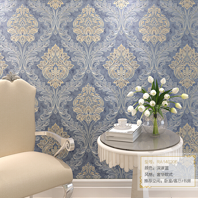3D European Luxury Background Wallpaper Damascus Mural Wall Paper Roll Living room Bedroom Ceiling Wallpaper For Walls Non-woven mural wallpaper 3d home decoration cherry trees 3d wallpaper living room ceiling non woven wallpaper ceiling