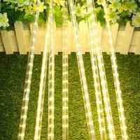 50CM 8 Tube Meteor Shower Rain Light 30 LED Strip Light Waterproof String Light Warm White