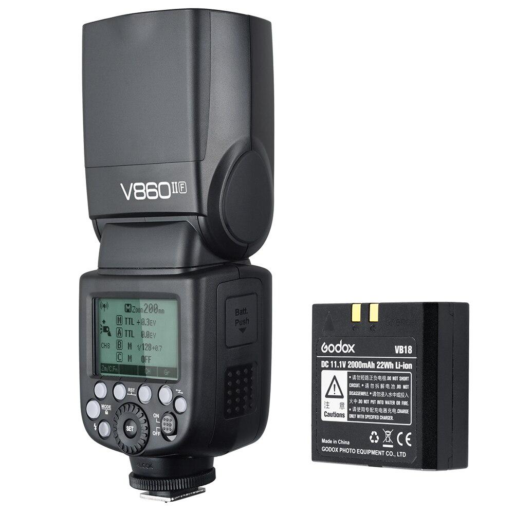 Godox V860iif V860ii F Camera Flash Speedlite Ttl Hss 24g Li Ion Circuit Gn60 1 8000s On Battery X1t Trigger For Fujifilm X T1 T2 Cameras