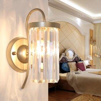 Cristal moderna lâmpada de parede personalidade criativa sala de estar quarto lâmpada de parede lâmpada de cabeceira quarto corredor lâmpadas simples Europeu ZA425659
