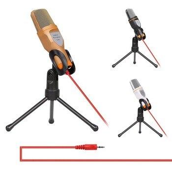 الميكروفونات مكثف ميكروفون كاريوكي microfone السلكية ميكروفونات ستيريو الصوت الاستوديو مع حامل حامل كليب للكمبيوتر الدفتري المحمول