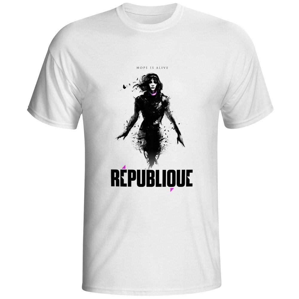Republic T-shirt Video Game Hip Hop Fashion Skate T Shirt Print Design Funny Women Men Top