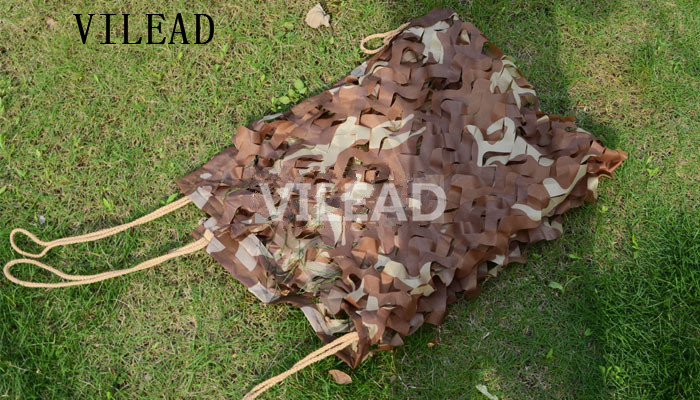 VILEAD 2.5M x 8M (8FT x 26FT) Desert Digital Camo Netting Military Army Camouflage Net Jungle Shelter for Hunting Camping Tent vilead 7m x 9m 23ft x 29 5ft desert military army camo netting digital camouflage net jungle shelter for hunting camping tent