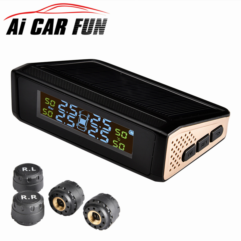 TP815 Wireless Car TPMS Solar Power Car Tire Pressure Monitoring System Real time Display Alarm System