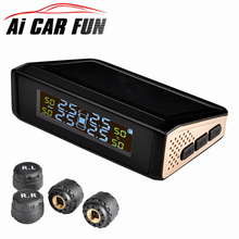 TP815 Wireless Car TPMS Solar Power Car Tire Pressure Monitoring System Real-time Display Alarm System with Automatic Backlight