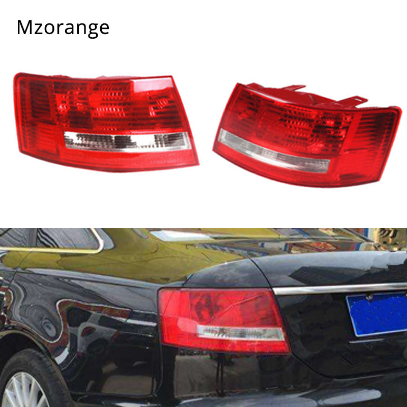 MIZIAUTO Tail Light For Audi A6 S6 Quattro 2005 2006 2007 2008 4B5 945 095B 4B5 945 096B No wire hardness Bulbs Tail Rear Lamp image