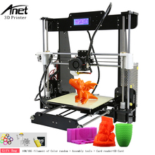 Anet Normal A8 3d Printer Large Printing Size High Accuracy Reprap i3 DIY 3D Printer DIY Kit with PLA Filament and SD Card Vedio цена 2017