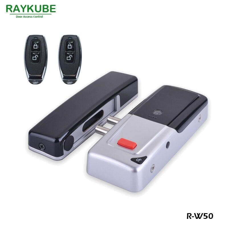 RAYKUBE New Wireless Electric Door Lock Mortise Lock Remote Control Open Door Bolt Lock suporte de celular para parabrisa