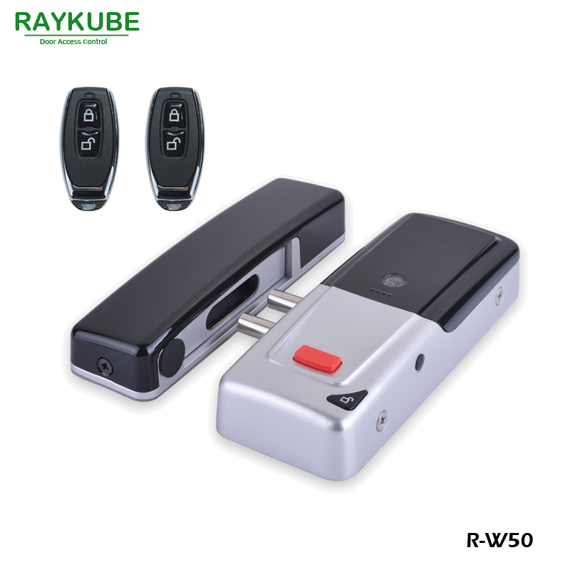 RAYKUBE New Wireless Electric Door Lock Mortise Lock Remote Control Open Door Bolt Lock