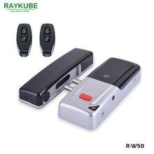 RAYKUBE nouvelle serrure de porte électrique sans fil serrure à mortaise télécommande porte ouverte serrure à boulon